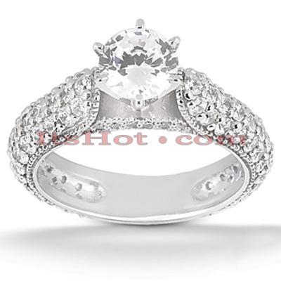 14K Gold Diamond Unique Engagement Ring 1.48ct