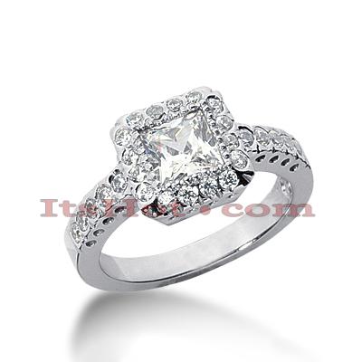 14K Gold Diamond Unique Engagement Ring 1.67ct