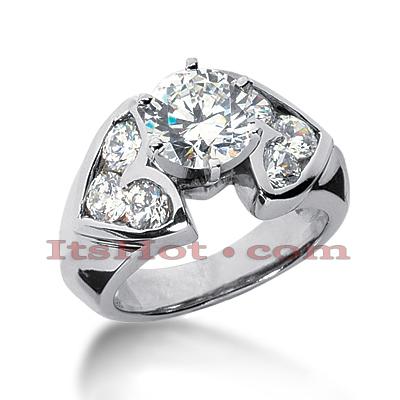 14K Gold Diamond Unique Engagement Ring 1.70ct