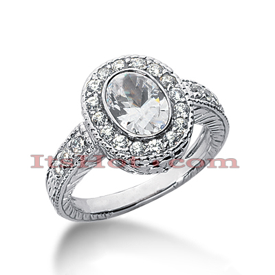 14K Gold Diamond Unique Engagement Ring 1.72ct