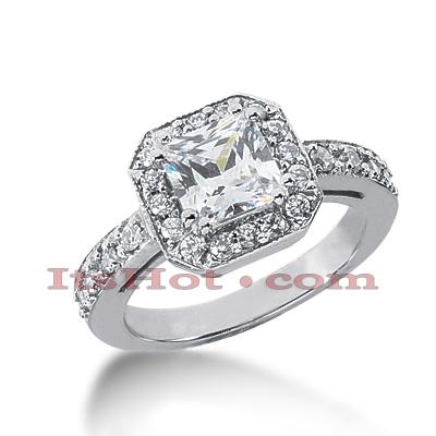 14K Gold Diamond Unique Engagement Ring 1.81ct
