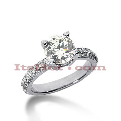 14K Gold Diamond Unique Engagement Ring 2.29ct