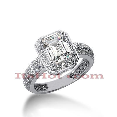 14K Gold Diamond Unique Engagement Ring 2.39ct