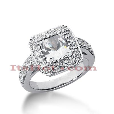 14K Gold Diamond Unique Engagement Ring 2.46ct