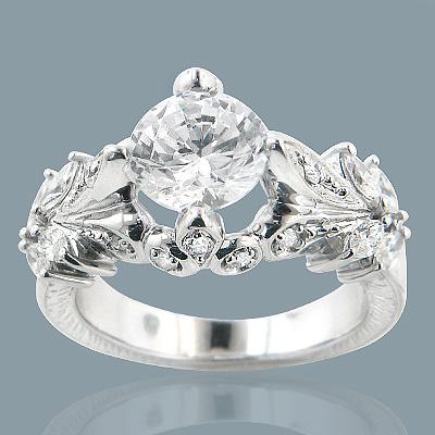 14K Gold Diamond Unique Engagement Ring 2.70ct