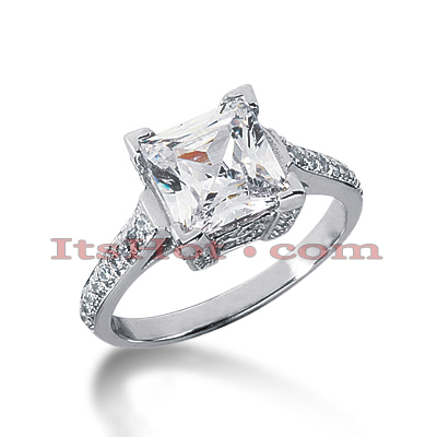 14K Gold Diamond Unique Engagement Ring 2.88ct