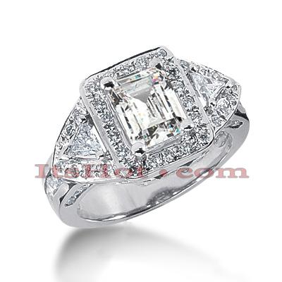 14K Gold Diamond Unique Engagement Ring 3.04ct