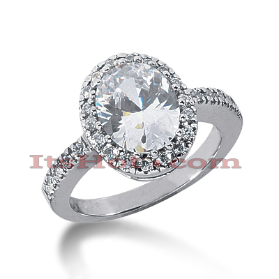 14K Gold Diamond Unique Engagement Ring 3.42ct
