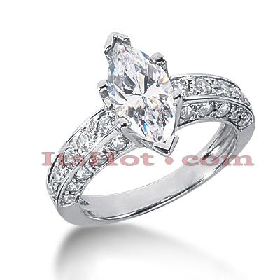 14K Gold Diamond Unique Engagement Ring 3ct