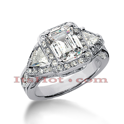 14K Gold Diamond Unique Engagement Ring 4.19ct