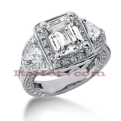 14K Gold Diamond Unique Engagement Ring 4.87ct