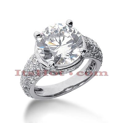 14K Gold Diamond Unique Engagement Ring 6.34ct