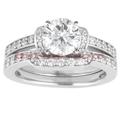 14K Gold Diamond Unique Engagement Ring Set 0.32ct