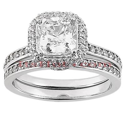14K Gold Diamond Unique Engagement Ring Set 1.19ct