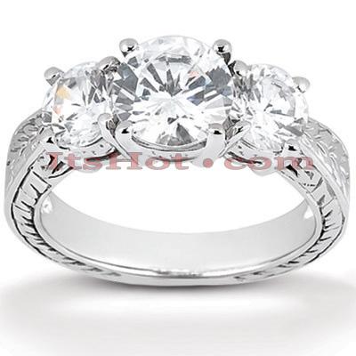 14K Gold Diamond Vintage Engagement Ring 0.29ct