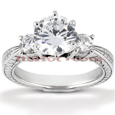14K Gold Diamond Vintage Engagement Ring 0.70ct