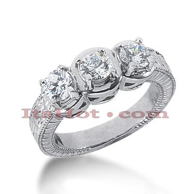 14K Gold Diamond Vintage Engagement Ring 1.05ct