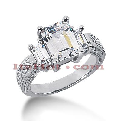 14K Gold Diamond Vintage Engagement Ring 1.66ct