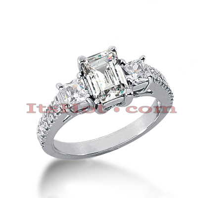 14K Gold Diamond Vintage Engagement Ring 1.74ct