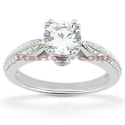 14K Gold Eight-Prong Solitaire Engagement Ring 0.53ct