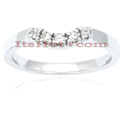 Thin 14K Gold Engagement Diamond Ring Band 0.06ct