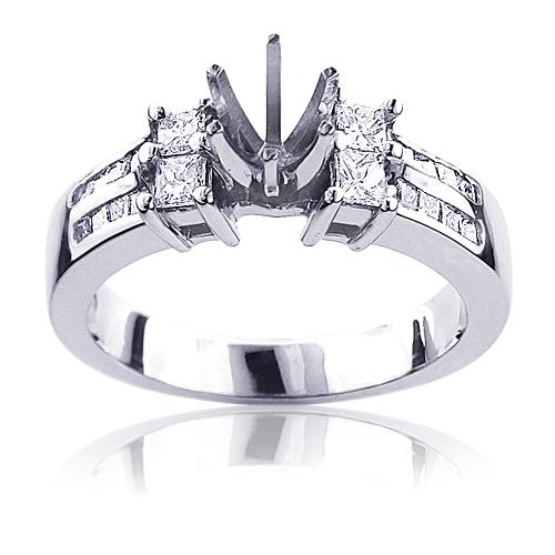 14K Gold Engagement Diamond Ring Mounting/Setting 0.4ct