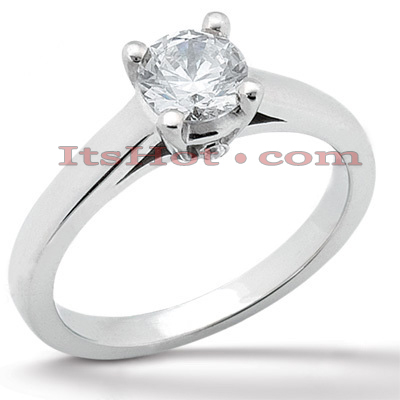 14K Gold Engagement Ring Mounting 0.01ct