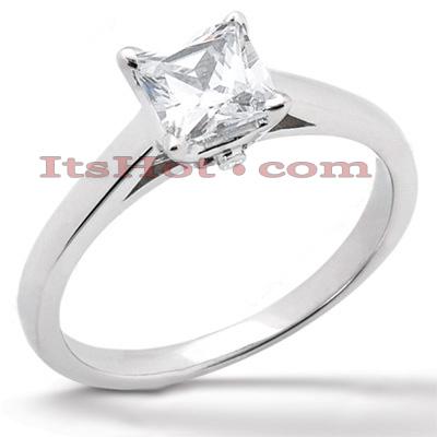 14K Gold Engagement Ring Mounting 0.01ct
