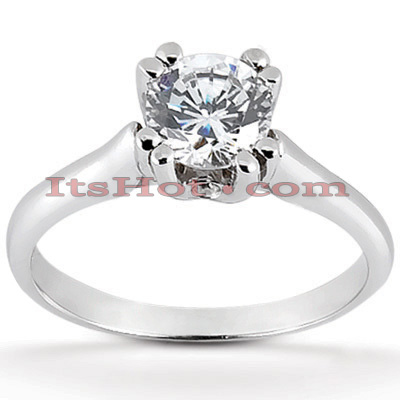 14K Gold Engagement Ring Mounting 0.03ct