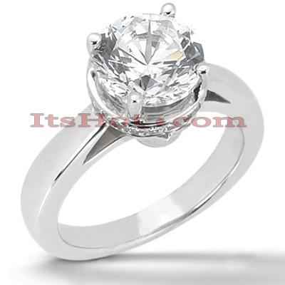 14K Gold Engagement Ring Mounting 0.07ct