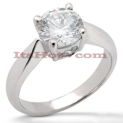 14K Gold Engagement Ring Mounting 0.12ct