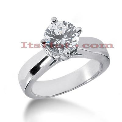 14K Gold Engagement Ring Mounting 0.24ct
