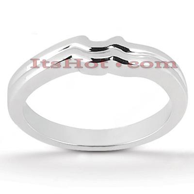 Thin 14K Gold Engagement Ring Wedding Band
