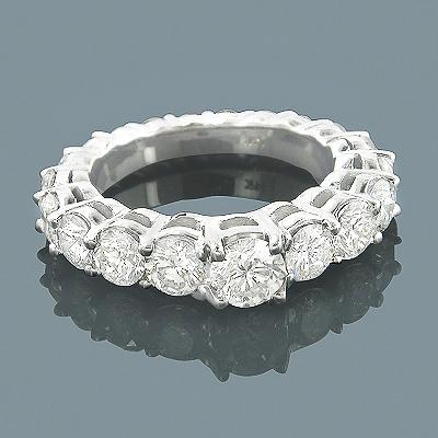 14K Gold Eternity Diamond Engagement Ring 3.28ct