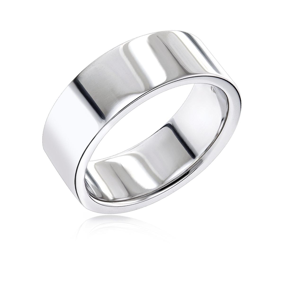 14K Gold Flat Comfort Fit Wedding Ring for Men