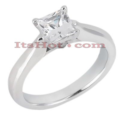 14K Gold Four-Prong Engagement Ring Mounting 0.06ct