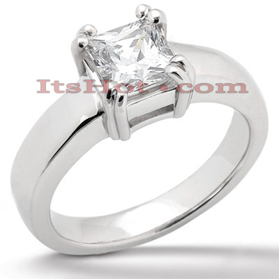 14K Gold Four-Prong Engagement Ring Mounting