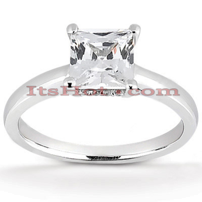14K Gold Four-Prong Solitaire Engagement Ring 0.46ct