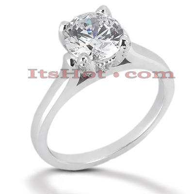 14K Gold Four-Prong Solitaire Engagement Ring 0.54ct