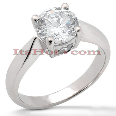 14K Gold Four-Prong Solitaire Engagement Ring 0.87ct