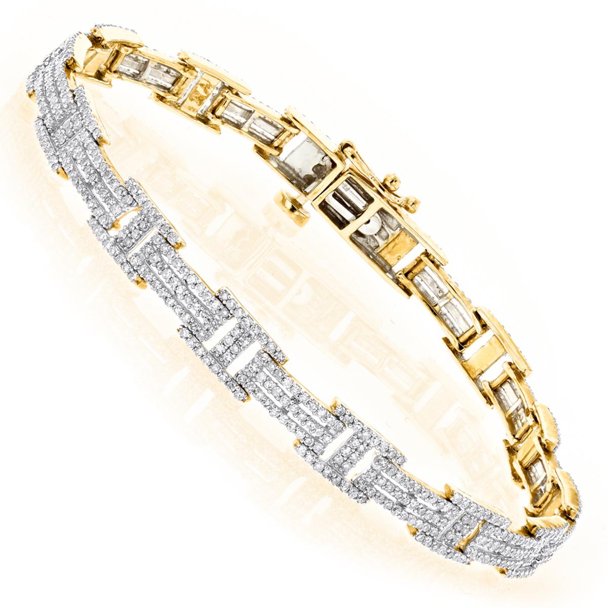 14K Gold Ladies Diamond Bracelet 2.2ctw
