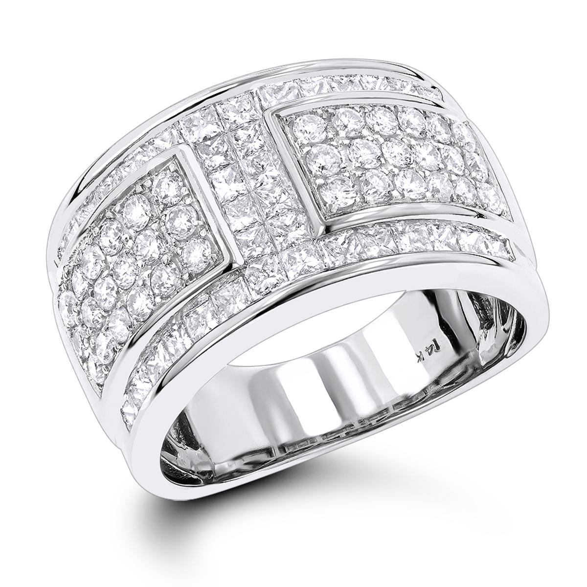 14K Gold Ladies Diamond Wedding Ring 2.75ct