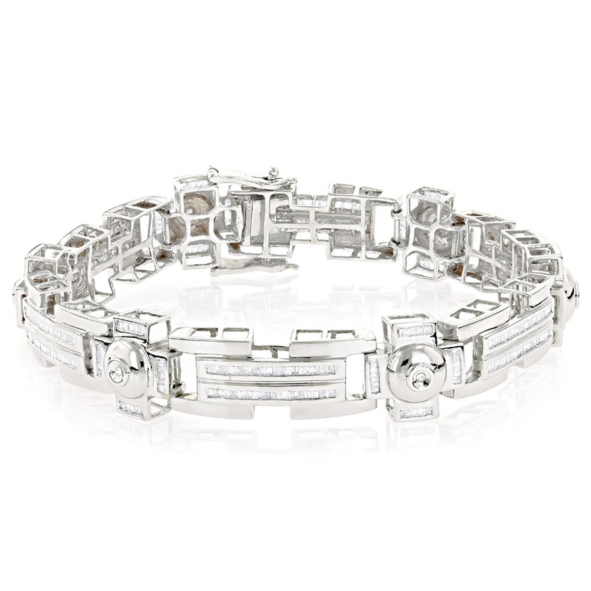 14K Gold Unique Diamond Bracelet For Men 4.5ct