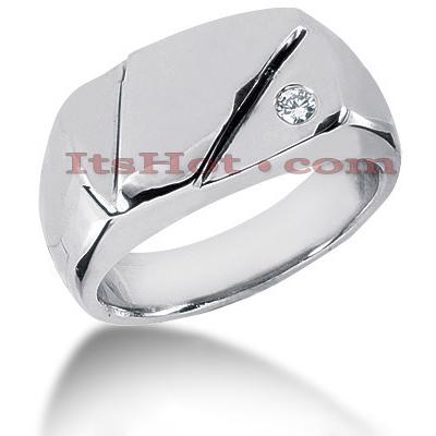 14K Gold Men's Diamond Wedding Band 0.07ct