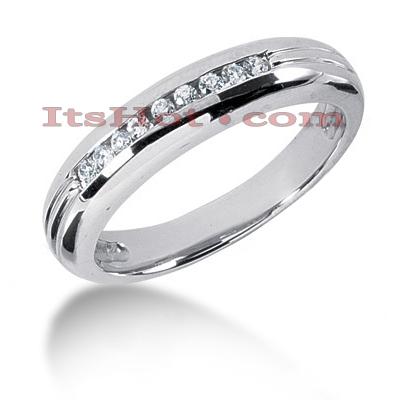 14K Gold Mens Diamond Wedding Band 0.23ct