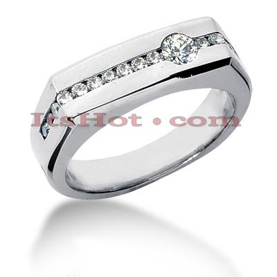 14K Gold Men's Diamond Wedding Band 0.50ct
