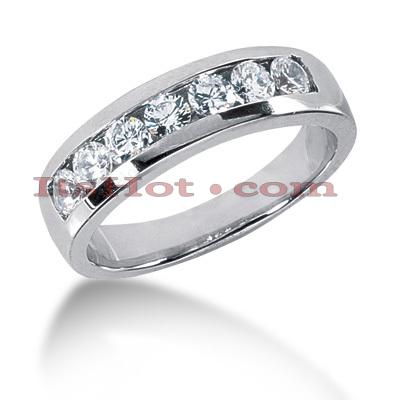 14K Gold Men's Diamond Wedding Band 0.84ct