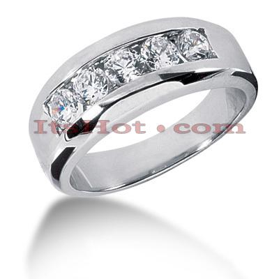 14K Gold Men's Diamond Wedding Ring 0.50ct
