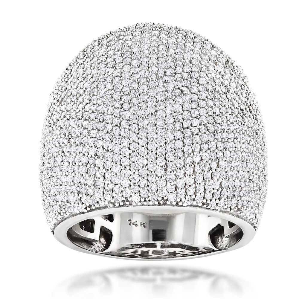 14K Gold Pave Diamond Ring 2.75ct