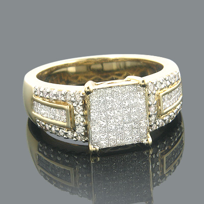 14K Gold Pre-Set Diamond Engagement Ring 1.45ct